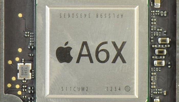 Primer plano del Apple A6X