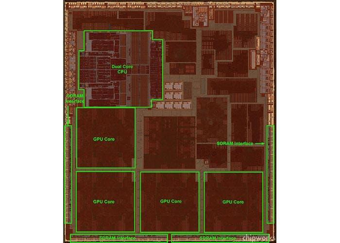 Rayos X del chip A6X
