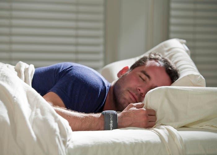 Foto de un hombre durmiendo