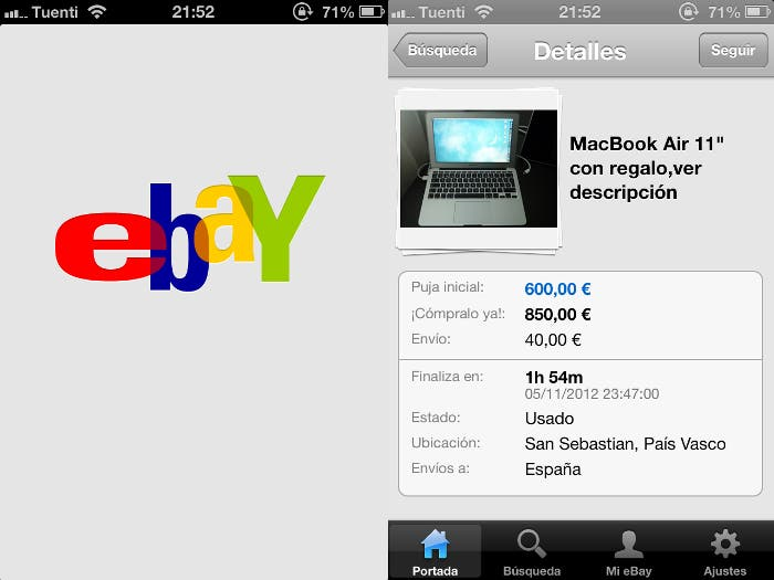 eBay para iPhone