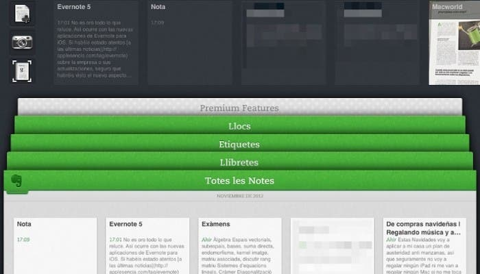 Evernote 5 en un iPad