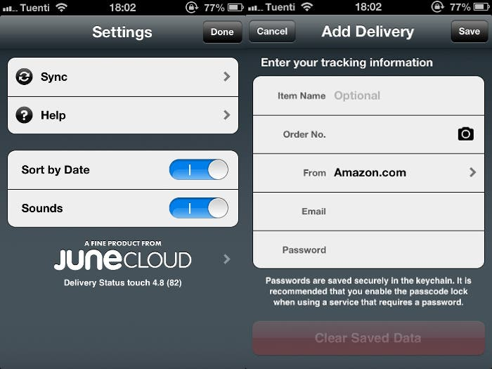 Funcionamiento y opciones de Delivery Status para iPhone