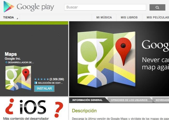 Google prepara la aplicación para iOS