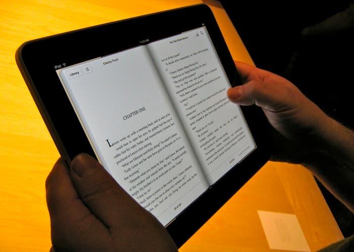 Lectura en iBooks en un iPad