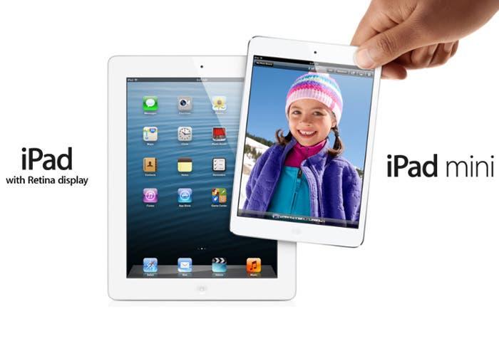 iPad y iPad mini frente a frente
