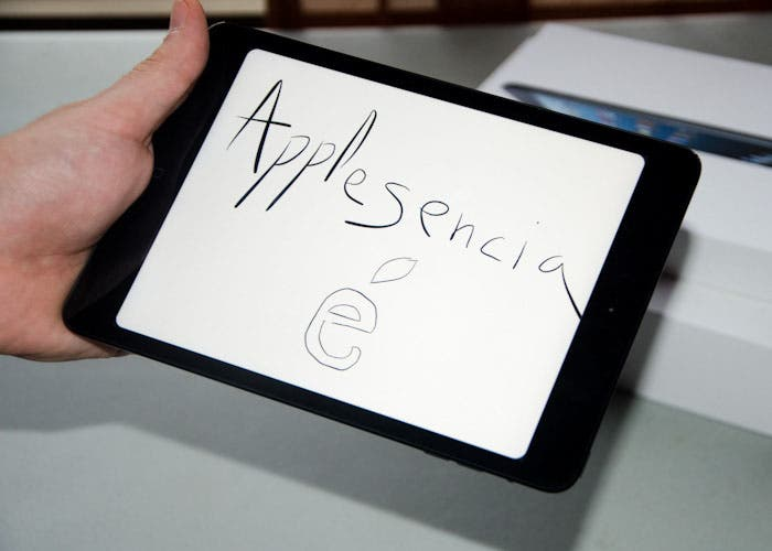 iPad mini con un mensaje para Applesencia en la review