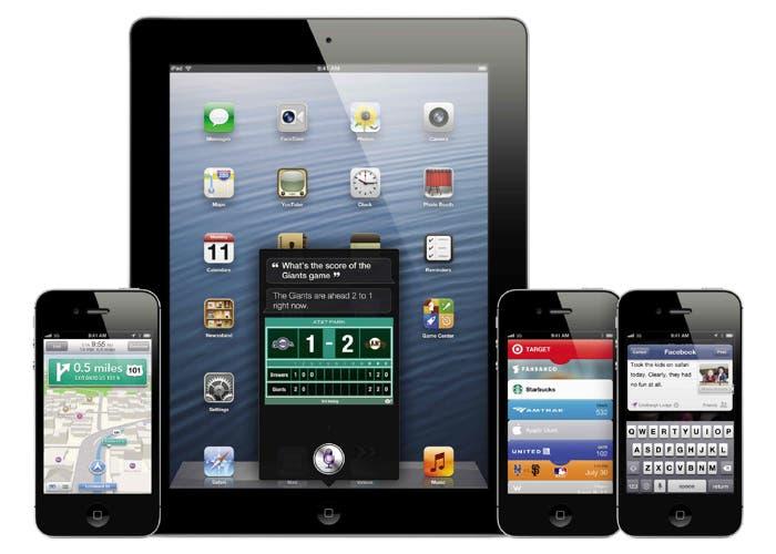 iOS 6 en varios dispositivos