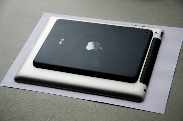Comparativa de tamaño del iPad Retina y el iPad mini