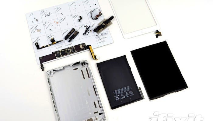 Teardown del iPad mini hecho por iFixit
