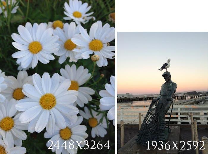 Comparación de megapíxeles del iPhone 5 y iPod touch