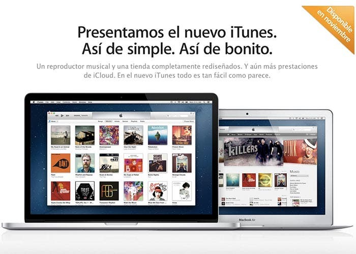 iTunes 11 en noviembre