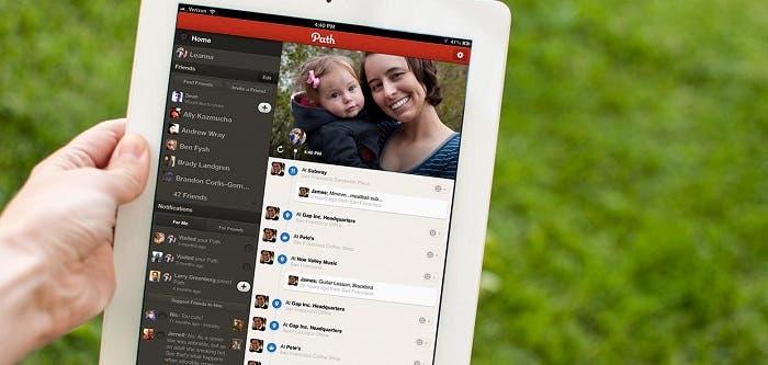 Aplicación Path para iPad