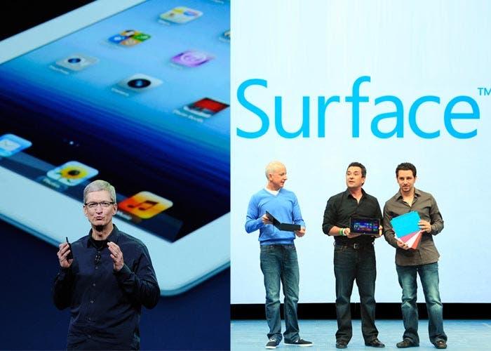 Presentaciones de la Microsoft Surface y el iPad