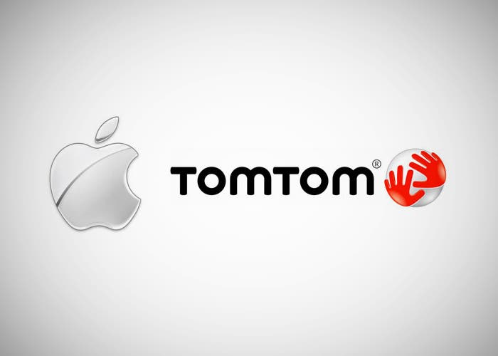 Logotipos de Apple y TomTom