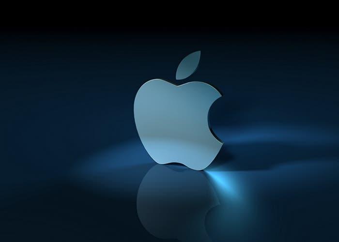 Logo de Apple en color azul