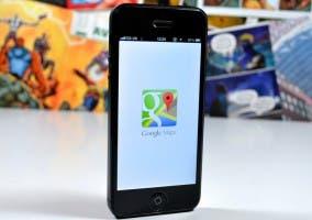 App Google Maps funcionando en un iPhone 5