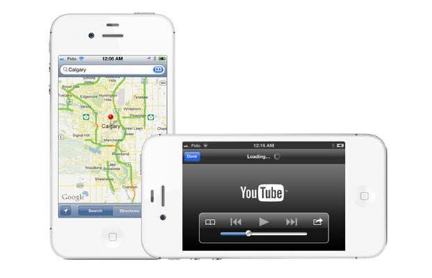 Imagen de lo que era Google Maps y YouTube en iOS 5