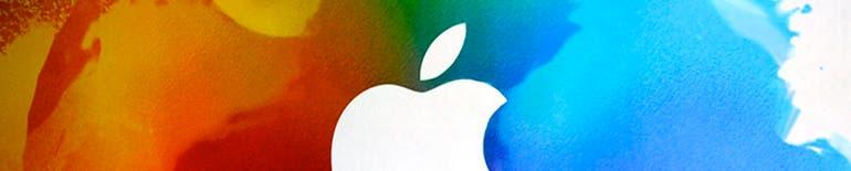 Medio logotipo de Apple para separar textos