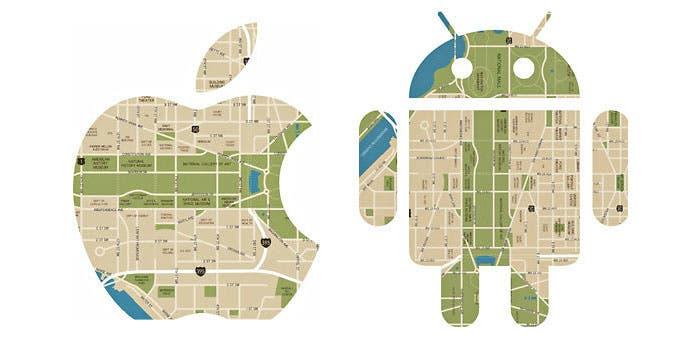 Los mapas de Google Maps y los de iOS