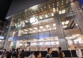 Vista general de la nueva Apple Store de Hong Kong