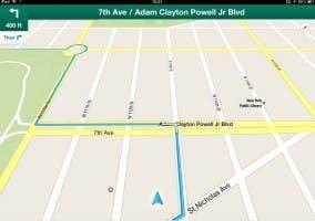 Captura de Google Maps en iPad