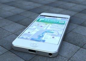iPhone 5 con los mapas de Apple