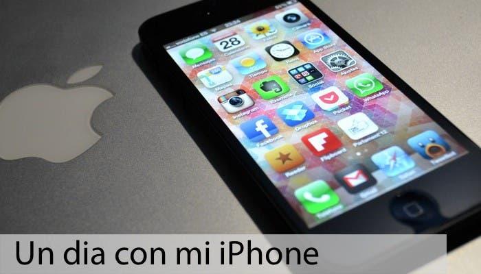 Fotografía de la pantalla inicial de mi iPhone 5