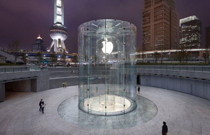 Fotografía de la Apple Store de Shanghai