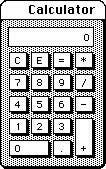 Calculadora original de Mac OS