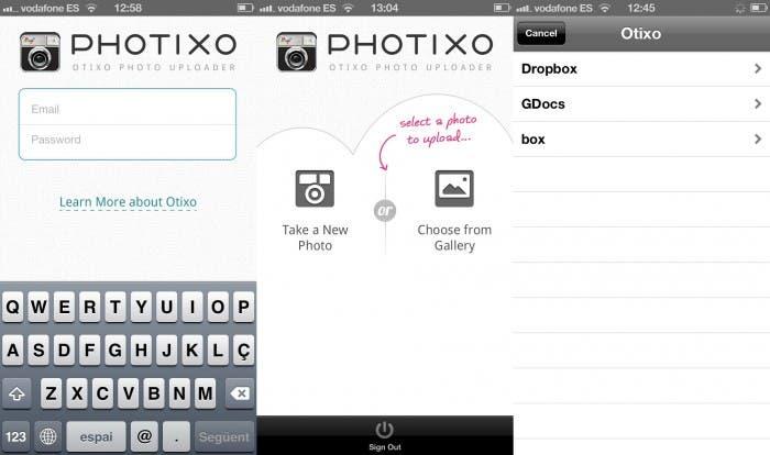 Capturas de pantalla de Photixo