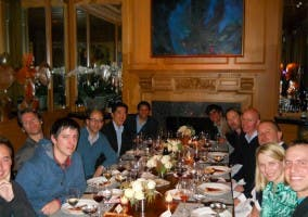 CEOs de Silicon Valley reunidos en una cena