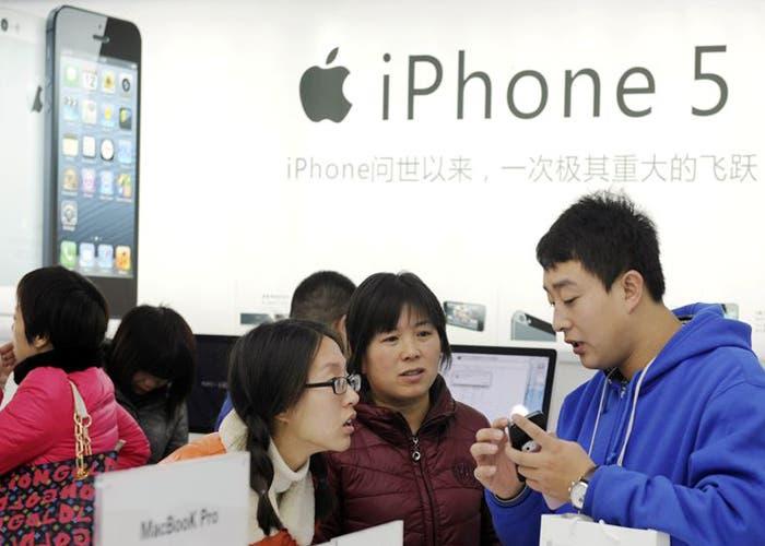 El iPhone 5 en una Apple Store de China