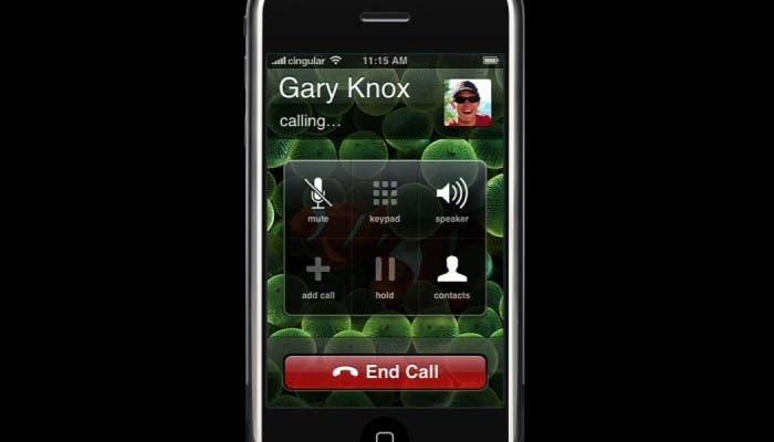 iPhone haciendo una llamada