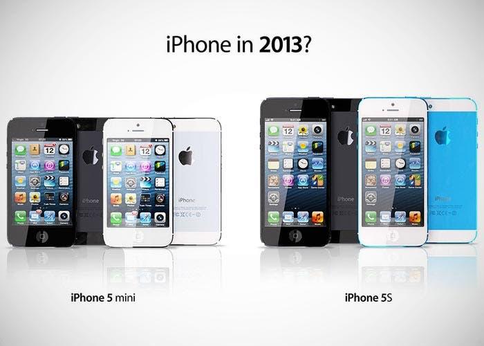 Mockups del iPhone mini y iPhone 5S