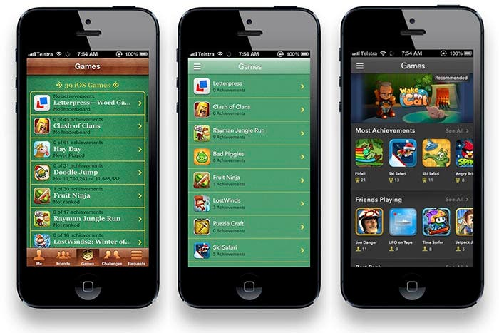 Game Center en Crystal Interface