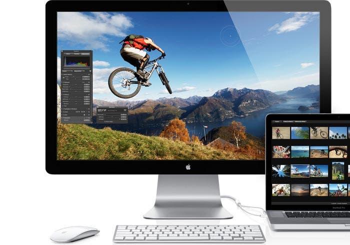 Editando fotografías con el monitor Thunderbolt Display