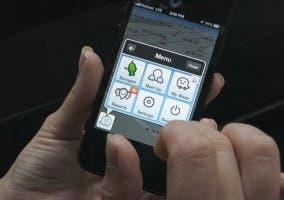 Waze en un iPhone