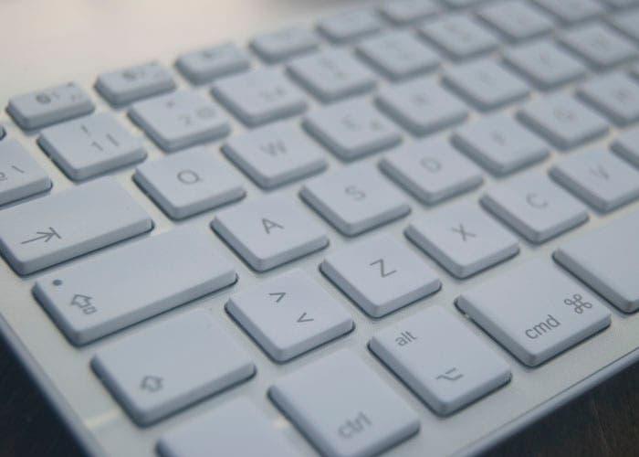 Logitech teclado desde cerca