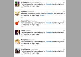 Mensajes de Tweetbot en cuentas piratas