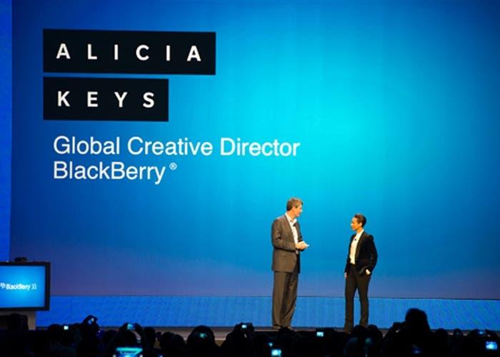 Alicia Keys en la presentación de BlackBerry 10