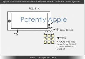 Patente del teclado láser proyectado de Apple