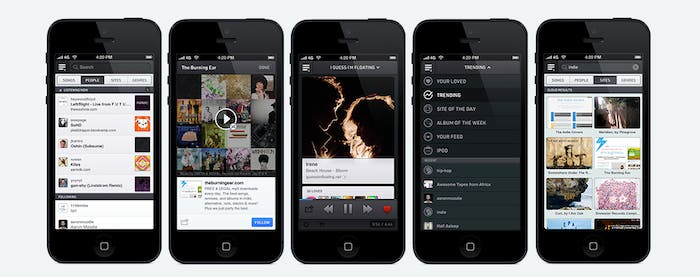 Capturas de exfm para iPhone
