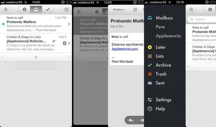 Esta es la interfaz de Mailbox