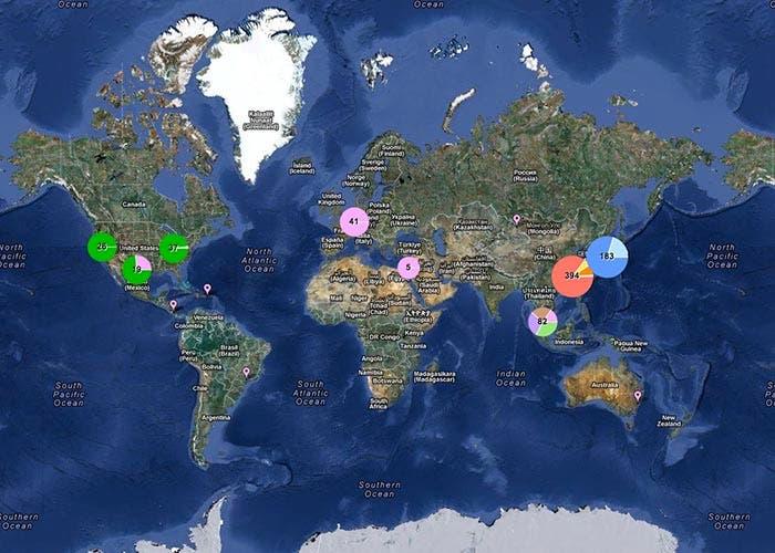 Proveedores de Apple a lo largo del mundo