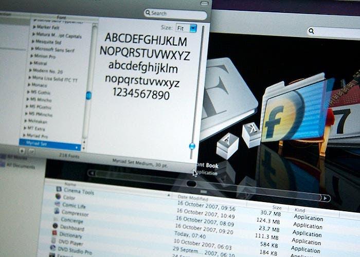 La gestión de la tipografía en OS X