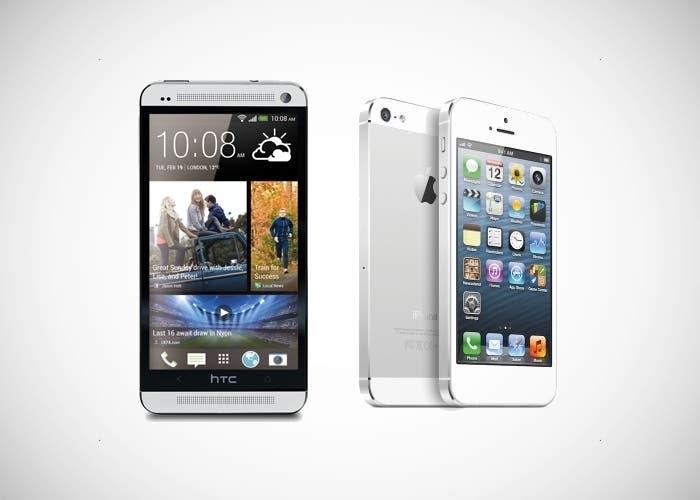 Comparativa entre el iPhone 5 y el nuevo HTC One