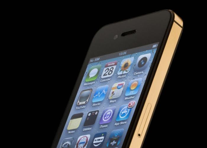 imagen de un iPhone 4S con un fondo negro