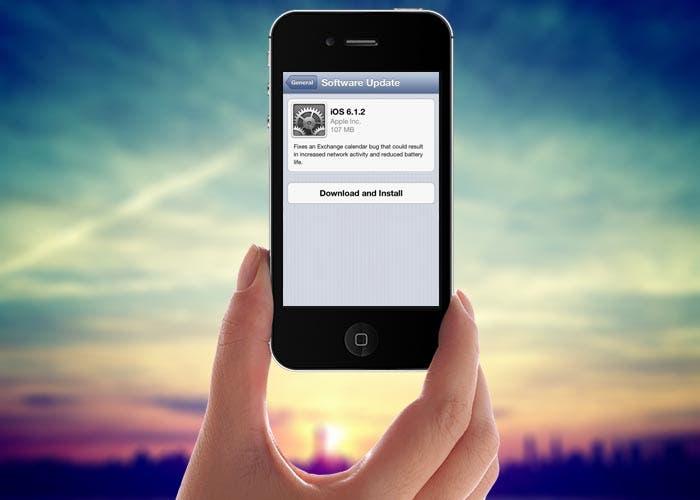 iOS 6.1.2 en un iPhone
