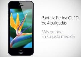 iPhone con pantalla Retina OLED