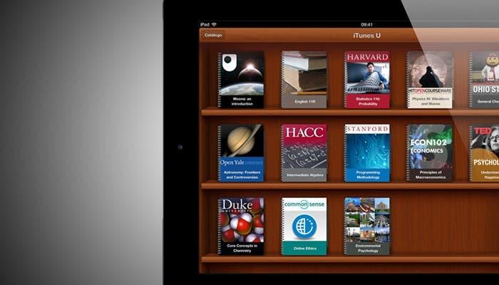 iTunes U en un iPad